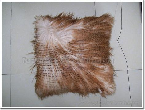 Long Hair Goat Cushion Cover